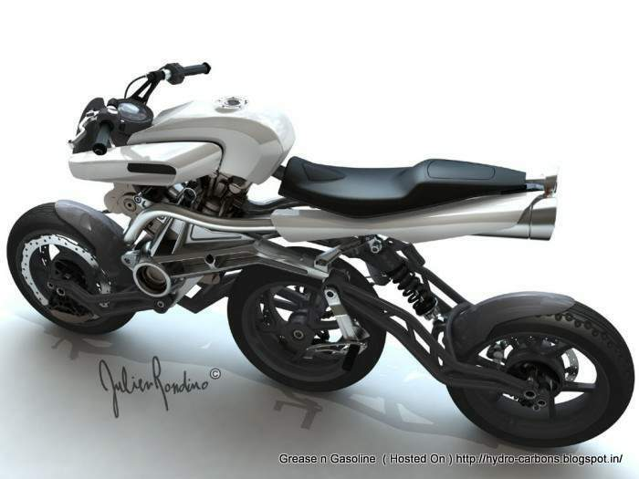 A3w motiv concept in line 3 wheeled motorcycle video for Three wheel motor bike in india