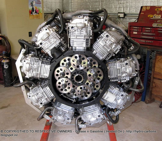 Russell Sutton's Honda XR600 9 Cylinder Radial Engine ...